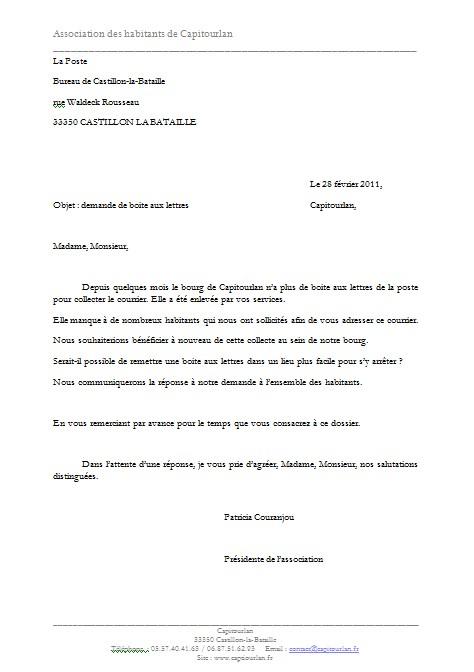 Application Letter Sample Modele De Lettre Demande De Lots